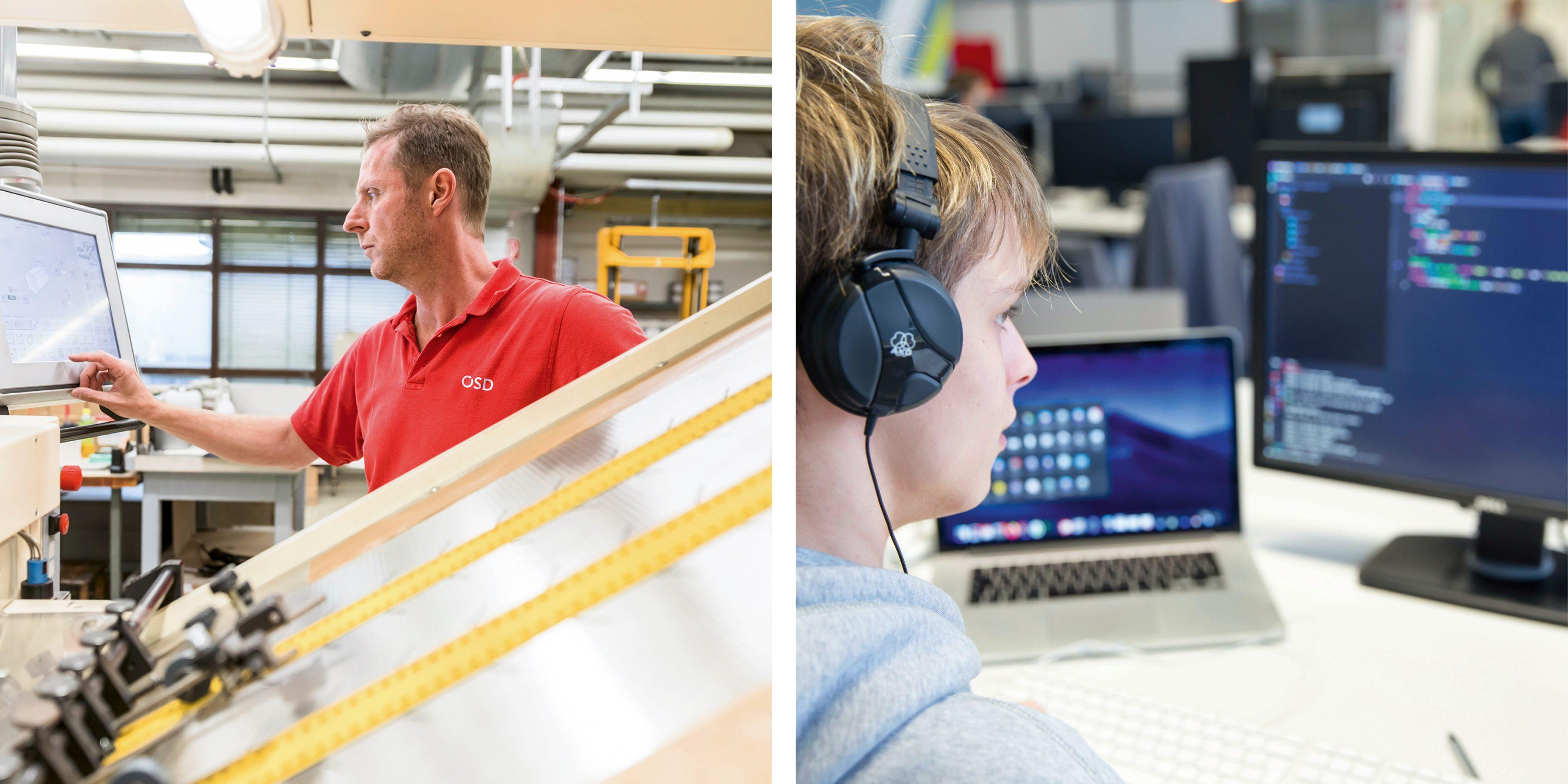 Drucker; Programmierer; Darstellungsbild für Lehrstellen-Ausschreibung