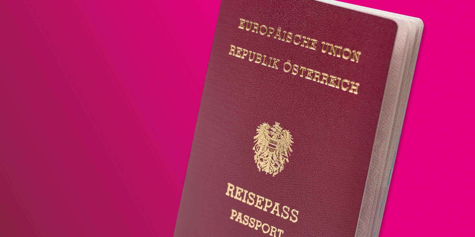 Österreichischer Reisepass Header